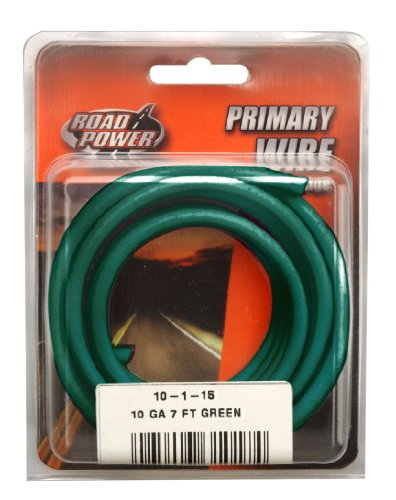 Coleman Cable 10-1-15 10-Gauge 7-Foot Automotive Copper Wire, Green