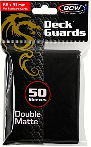 BCW - 50 Premium Black Double Matte Deck Guard Sleeve Protectors