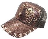 HSEC-8090030 (ドクロ付 キャップ ))男女兼用 メッシュCAP キャップ メンズ 帽子 ぱんだ 動物 KIDS レディース ロゴ帽子 野球帽 紫外線防止 ユニセックス CAP ロゴ アニマル cap ヘッドアクセ