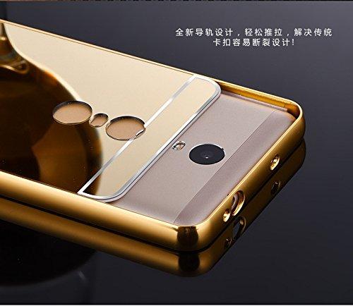 reputable site 3809e aa617 Mobiccessories Luxury Metal Bumper Acrylic Mirror Back Cover Case For  Xiaomi Redmi Note 3 - Gold + Free Scratch Guard