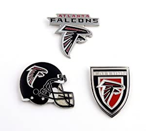 NFL Atlanta Falcons Three Piece Collector's Pin Set, Silver