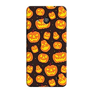 ColourCrust Microsoft Lumia 550 Mobile Phone Back Cover With Halloween Pattern Style - Durable Matte Finish Hard Plastic Slim Case