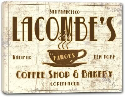 LACOMBE'S Coffee Shop & Bakery Canvas Print 24