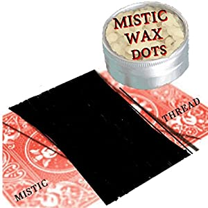 Magic Tricks - Invisible Thread for Levitation & Magician's Wax for Close up Street Magician, Floating Objects Magic Set & Kit (Great for Kids - Boys or Girls) for Close up Street Magic Illusions Like Floating Dollar Bill, Hummer - Spinning or Whirling Ca