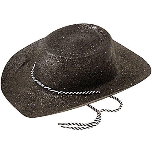 Cowboy Hat, Glitter Black, Fancy Dress Hat, Accessory
