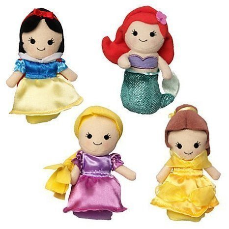 Disney-Princess-Finger-Puppet-Set-Snow-White-Ariel-Rapunzel-and-Belle