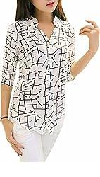 Choice Fashion Women Top(101014_White_Printed_Large)