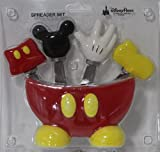 Disney Parks Mickey Body Parts 4 pc. Spreader Set with Holder - Disney Parks Exclusive & Limited Availability