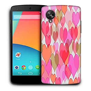 Snoogg Multiple Hearts Printed Protective Phone Back Case Cover For LG Google Nexus 5