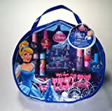 Disney Princess Cosmetic Bag 32 Piece Stickers 2 Toe Spacers 1 Nail File 3 Nail Polish Lip Gloss Tube Lip Gloss 2 Lip Balms (1 Kit)