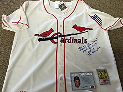 Stan Musial Autographed Signed St. Louis Cardinals Authentic Jersey Multiple Inscribed Stan The Man Inc COA & Hologram