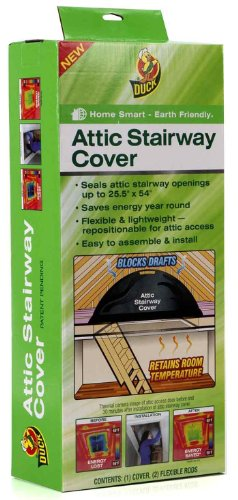 Duck Brand Attic Stairway Cover, 25.5 x 54 inches, Black (285109) (Duck Brand Attic Stairway Cover compare prices)