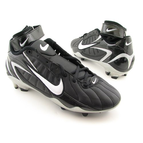 Nike Air Zoom Super Bad Men`s Football Cleats (15, Black/White)
