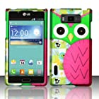 LG Optimus Showtime L86C Case (Straight Talk / Net10 / US Cellular) Radiant Owl Design Hard Cover Protector with Free Car Charger + Gift Box By Tech Accessories