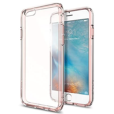 Let our Ultra Hybrid® case protect your iPhone 6s / 6 in clear transparency. The hard PC back and flexible TPU bumper are equipped with Air Cushion Technology® to protect against small drops. Its pronounced buttons are recognizable at the touch and e...