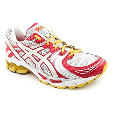 Asics - Womens Gel-Kayano 17 Running Shoes, Size: 9.5 B(M) US Womens, Color: White/Platinum/Cherr
