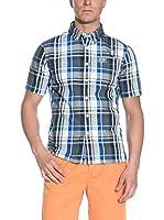Superdry Camisa Hombre (Azul / Gris)