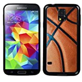 For Galaxy S5 Basketball-Sports Collection/Black Gummy Cover - LIFETIME WARRANTY