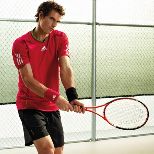 ADIDAS BARRICADE FORMATION CLIMACOOL TENNIS SHIRT(Red)