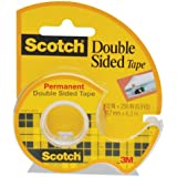 "665 Double-Sided Permanent Tape in Handheld Dispenser, 1/2"" x 250""-2PK"