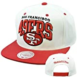 NFL Mitchell Ness Throwback Logo Arch Snapback Cap Hat NE10 San Francisco 49ers