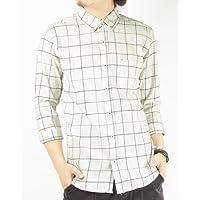 (バレッタ)Valletta 3color 格子柄ウインドペン7分袖チェックシャツ