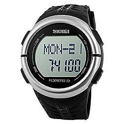 Skmei Men Women Heart Rate Monitor Pedometer Digital Sport Watch 50m Waterproof from Skmei