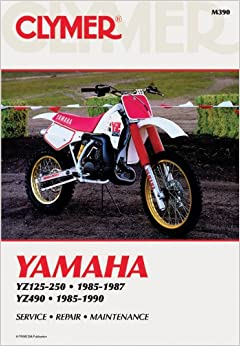 clymer yamaha yz125 490 85 90 service repair. Black Bedroom Furniture Sets. Home Design Ideas