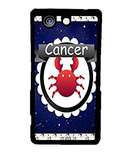 Fuson 2D Printed Sunsign Cancer Designer back case cover for Sony Xperia Z4 Mini - D4423