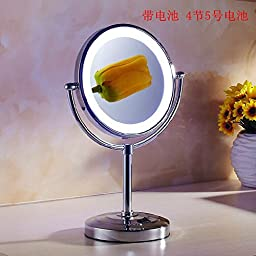 Desktop double-sided makeup mirror LED mirror bathroom mirror makeup mirror
