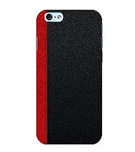PrintVisa Red Stripes Design 3D Hard Polycarbonate Designer Back Case Cover for Apple iPhone 6