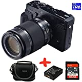 Allcam Bundle Fujifilm XPro2 Mirrorless CSC Camera with XF55-200mm f3.5-f4.8 OIS Zoom Lens + Fuji Case + 2X Sandisk 32GB Ultra + NP-W126 Spare Battery (24MP, APS-C X-Trans CMOS Sensor) 3 inch