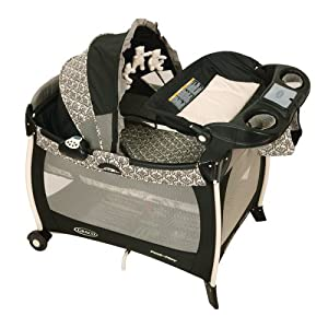 Graco Silhouette Pack 'N Play Playard with Bassinet and Changer