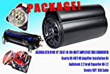 """COMPLETE PACKAGE! Bazooka BTA10100 10"""" Tube Subwoofer Built-in 100-Watt Amplifier + Gravity RG-4KIT-RD Amplifier Installation Kit + Audiobank 2.2 Farad Capacitor AB-2.2 + Gravity 18FT RCA Cable"""
