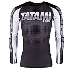 Tatami 2017 Long Sleeve IBJJF Rash Guards - White - Large