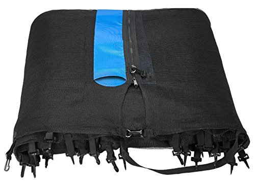 Upper-Bounce-14-Trampoline-Net-Safety-Enclosure-Replacement-Fits-14-FT-Round-Frames-using-8-Straight-Poles-Installs-Outside-of-Frame-poles-not-included