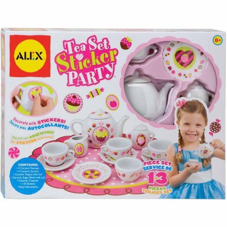 Craft 13 Piece Tea Set Party with Over 100 Stickers (Teapot Stickers compare prices)