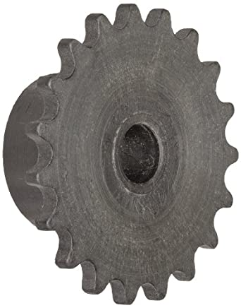 "Boston Gear Roller Chain Sprocket, Bored-to-Size, Type B Hub, Single Strand, 1.13"" Pitch, 24 Teeth, 0.25"" Bore Dia., 1.182"" OD, 0.625"" Hub Dia., 0.062"" Width"