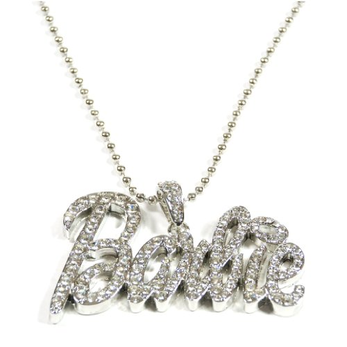 Silver Tone Iced Out Barbie Hip Hop Pendant -
