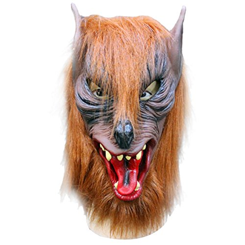 AutumnFall® Wolf Mask Latex Animal Costume Prop Halloween