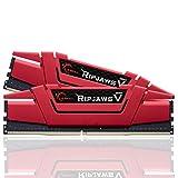 G.SKILL Ripjaws V Series 16GB (2 x 8GB) 288-Pin DDR4 SDRAM DDR4 3000 (PC4 24000) Intel Z170 Platform / Intel X99 Platform Desktop Memory Model (F4-3000C15D-16GVRB) (Tamaño: 16 Gb)
