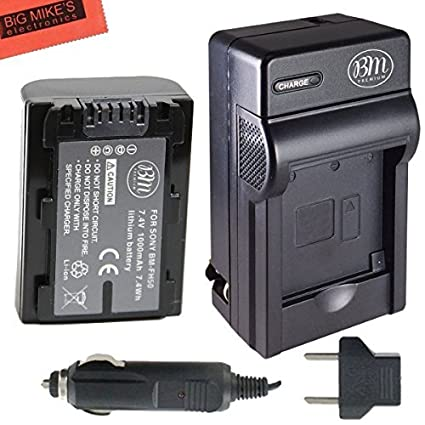 Replacement-NP-FH50-Battery-+-Charger-for-Sony-CyberShot-DSC-HX1-DSC-HX100V-DSC-HX200V-HDR-TG5V-Digital-Camera-+-More!!