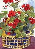 Toland Home Garden Geranium Basket 28 x 40-Inch Decorative USA-Produced House Flag