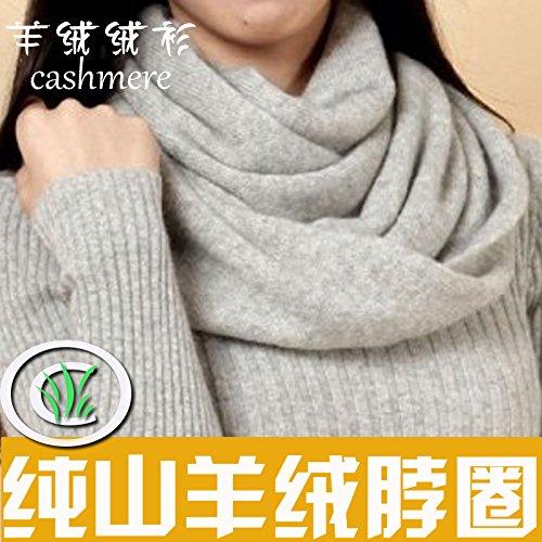 Il collare della donna di colore solido Turtleneck sciarpa cashmere dense e calde in maglia di lana collare collare ,maschio grigio scuro