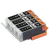 CANON / キヤノン キャノン 高品質 純正互換インクカートリッジ BCI-350XLBK(ブラック/黒)4本セット 残量表示機能付 保証1年 【ICチップ有】Barongオリジナル