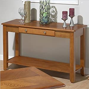 Amazon.com: Jofran 480 Series Wood Sofa Table in Oak: Furniture ...