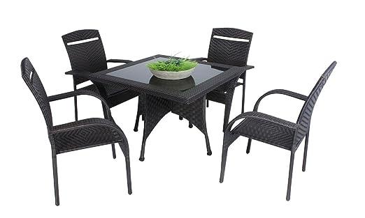 Gravidus 5-teilige Tischgruppe, Dunkelbraun