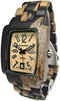 Tense Wood Mens Watch Rectagular Hypoallergenic J8102DM LF from Tense Wood Watches