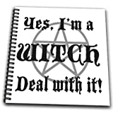 3dRose db_157356_2 Yes, I'm a Witch Deal with it Halloween Witch Witchcraft Memory Book, 12 by 12-Inch
