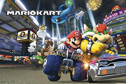 Mario Kart 8 Video Game Poster 18x12 (Mario Kart Wii Custom Tracks compare prices)
